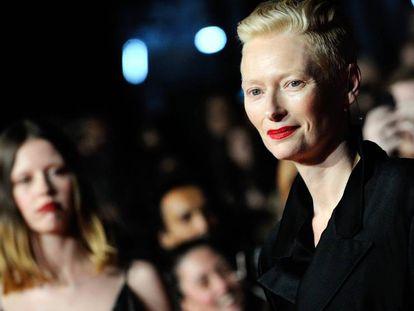 Tilda Swinton en el Festival de Cine de Londres, el pasado octubre.