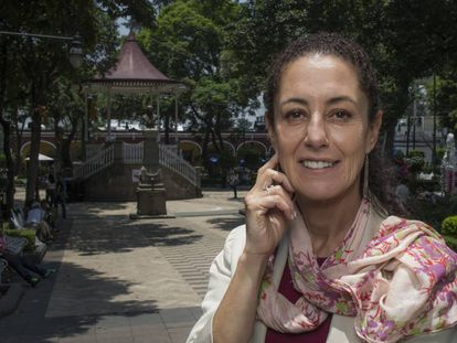 Claudia Sheinbaum, delegada de Tlalpan, al sur de la Ciudad de México.