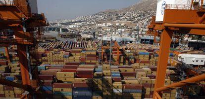 Terminal del puerto de Pireo en Grecia