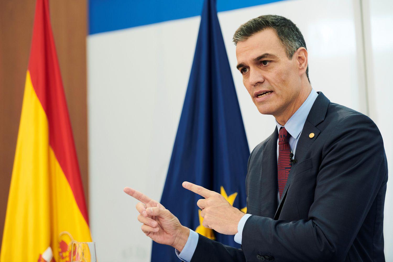El presidente del Gobierno, Pedro Sánchez, en una rueda de prensa tras la cumbre extraordinaria de la UE, el pasado 2 de octubre.