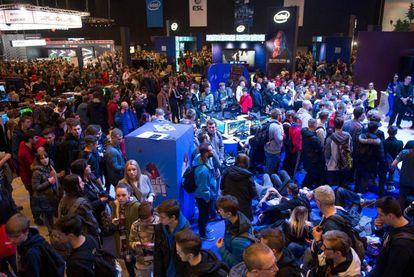 Asistentes a un evento de Intel, el 2 de noviembre.