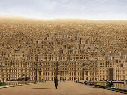 Hiperversalles logra una atmósfera onírica ensamblando fotos del palacio real de las afueras de París.