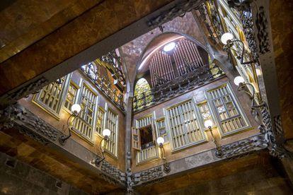 Interior del Palau Güell.