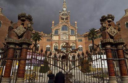 Entrada principal del Hospital de Sant Pau.