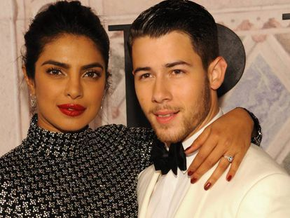 Priyanka Chopra y Nick Jonas, durante el 50 aniversario de Ralph Lauren, el pasado septiembre.
