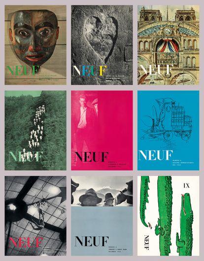 Algunas portadas de la revista 'NEUF'.