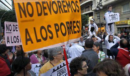 Manifestación contra la pobreza, en Valencia.