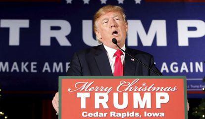 Donald Trump en un evento de campaña.