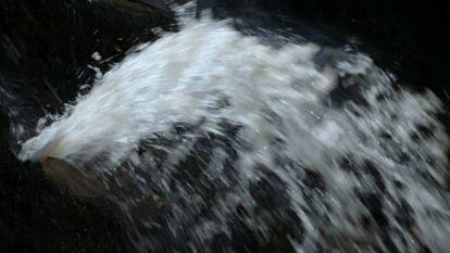Agua de un río en Ruanda, en un fotograma de la película 'L'eau sacrée'.