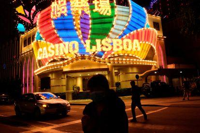 Exterior del Casino Lisboa, en Macao.
