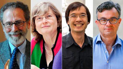 Los matemáticos Yves Meyer, Ingrid Daubechies, Terence Tao y Emmanuel Candès, ganadores del Princesa de Asturias de Investigación 2020.