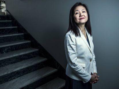 Li-Hue Tsai, antes de la entrevista.