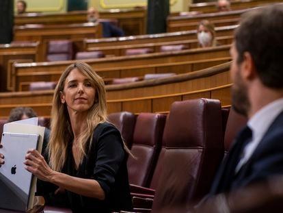 La portavoz del Grupo Popular en el Congreso de los Diputados, Cayetana Álvarez de Toledo, la semana pasada.