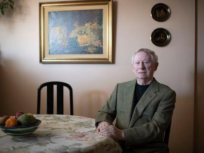 El chef Benjamin Urdiain, en su casa en el centro de Madrid la semana pasada.