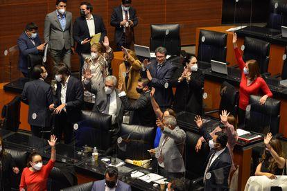 Sesión ordinaria de la Comisión Permanente del Congreso de la Unión en julio de 2021.
