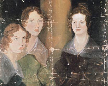 Retrato de las hermanas Brontë, de Patrick Branwell Brontë.
