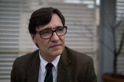Salvador Illa, candidato del PSC en las elecciones catalanas del 14 de febrero.
