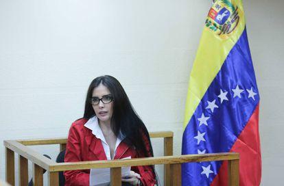 La exsenador colombiana Aida Merlano, en Caracas.