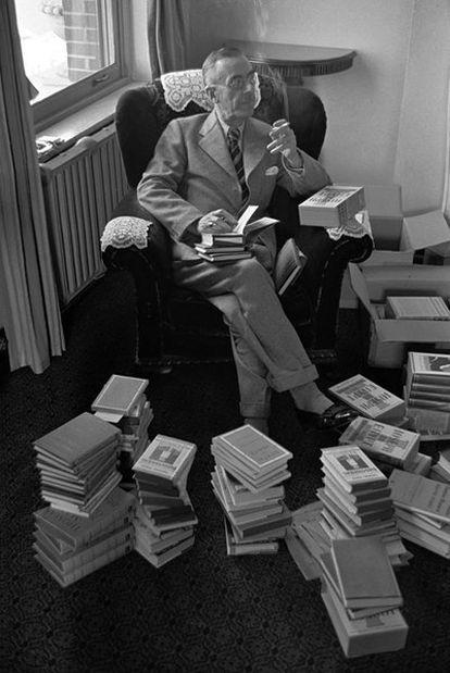 Thomas Mann (Nobel de Literatura en 1929), en 1939.
