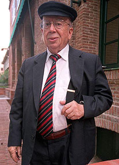 Gonzalo Rojas, en la Residencia de Estudiantes.