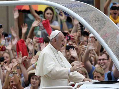 El Papa, este miércoles durante la JMJ en Cracovia (Polonia).