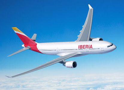 Imagen de un avión A330-200 de Iberia.