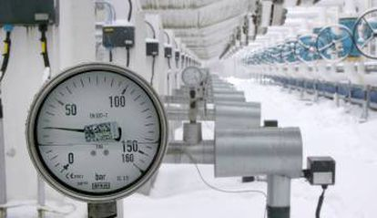 Detalle de la única planta de gas en los bálticos.