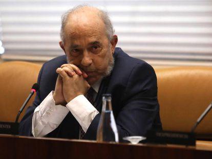Enrique Álvarez Conde, este viernes en la Asamblea de Madrid.