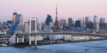 Vista panorámica de Tokio.