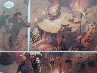 Viñetas de 'Krieg Machine', de Norma Editorial