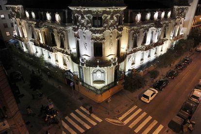 Vista de la sede madrileña de la Sociedad General de Autores (SGAE).