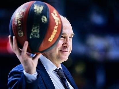Pablo Laso, en un partido de la Liga ACB con el Madrid en el WiZink Center. Sonia Cañada (Getty)