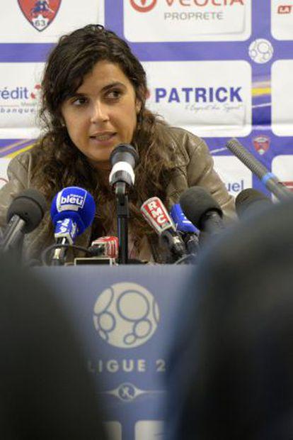Helena Costa, durante la rueda de prensa