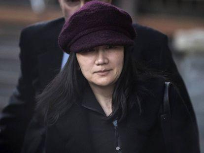 Meng Wanzhou, vicepresidenta de Huawei, en Vancouver el pasado 29 de enero.