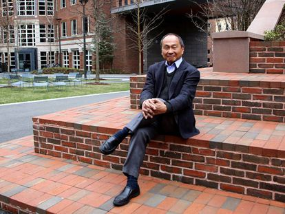 El politólogo estadounidense Francis Fukuyama, el miércoles pasado, en el campus de la Universidad de Harvard.