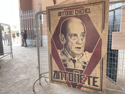 Retrato de Antoñete en Las Ventas, para conmemorar el 90º aniversario de la plaza madrileña.