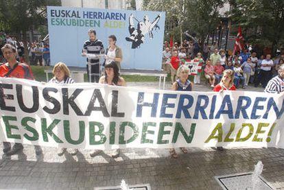 Acto de la izquierda <i>abertzale</i>, el pasado viernes en las fiestas de Bilbao.