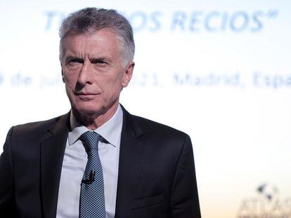 El expresidente de Argentina Mauricio Macri, en Madrid el 9 de julio.