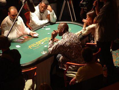 Jordan, jugando en un casino.