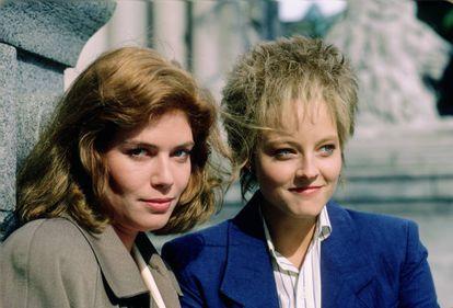 Con Jodie Foster en 'Acusados' (1988), uno de sus últimos éxitos en el cine.