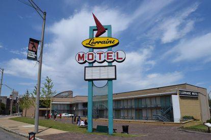 El motel Lorraine de Memphis, en el que fue asesinado Martin Luther King, fotografiado por Elvira Lindo.