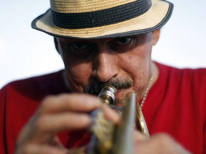 El trompetista Jerry Garcia.