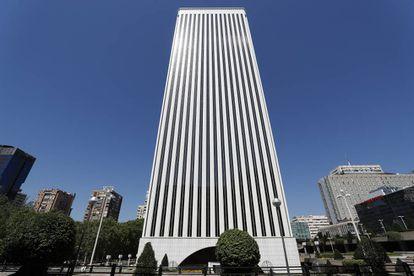 Torre Picasso, en Madrid, donde tiene su sede Google Spain.
