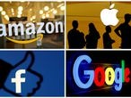 FILE PHOTO: The logos of Amazon, Apple, Facebook and Google in a combination photo. REUTERS/File Photo