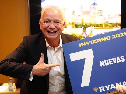 El consejero delegado de Ryanair, Eddie Wilson, esta mañana, en Madrid.