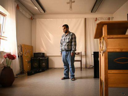 Mheddin Saho, en el centro protestante de Rottenburg an der Laaber (Baviera) donde se ha refugiado.