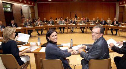 La consejera de Educación, María José Catalá, junto al secretario autonómico, Rafael Carbonell.