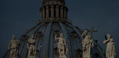 La cúpula de San Pedro, el sábado.