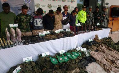Detención de ocho integrantes del Clan de Golfo en el departamento de Antioquia, el pasado 15 de mayo.