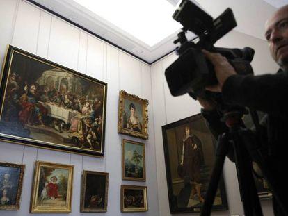 Sala del Louvre dedicada a las obras robadas por los nazis durante la Segunda Guerra Mundial